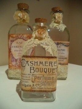 Decoración de botellas estilo vintage