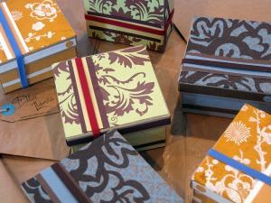 Caja realizada en el Taller propuesto por Dolça llibreta.