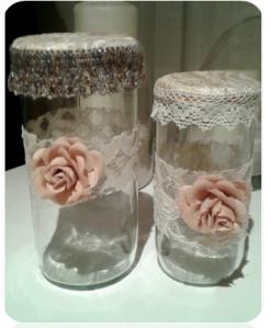 Bote de cristal con tapa estilo vintage