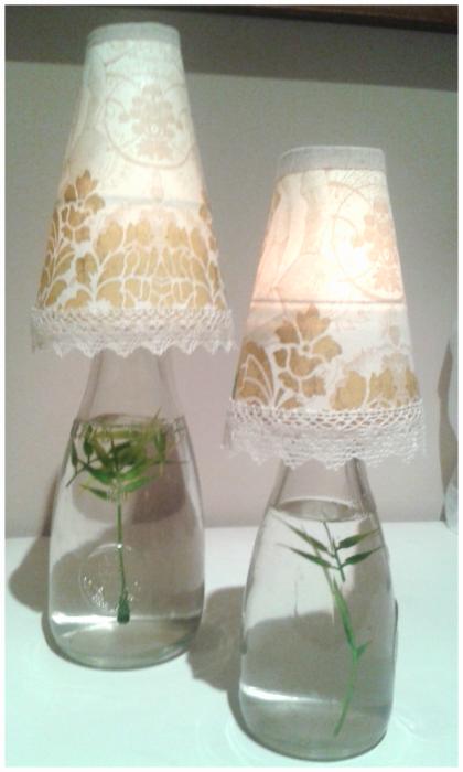 Lámparas con jarras de cristal Santadivina