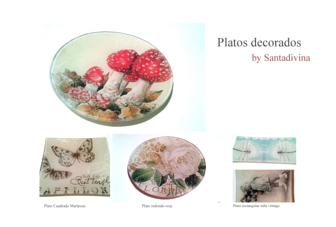 Platos Decorativos by Santadivina